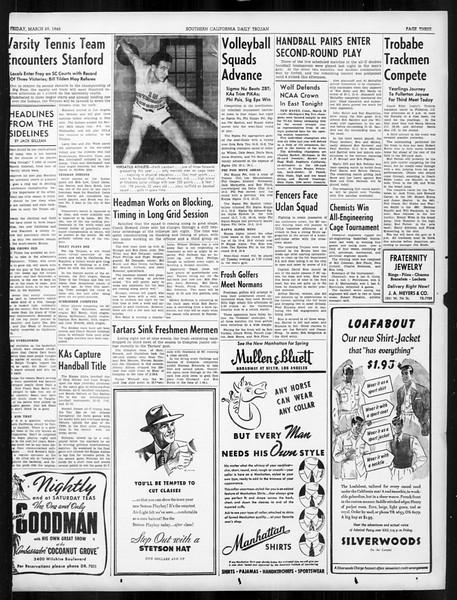 Daily Trojan, Vol. 31, No. 113, March 29, 1940