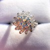 2.87ctw old European Cut Diamond Spray Ring GIA J SI1 22
