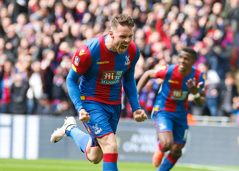 Connor Wickham celebrates after scoring winner