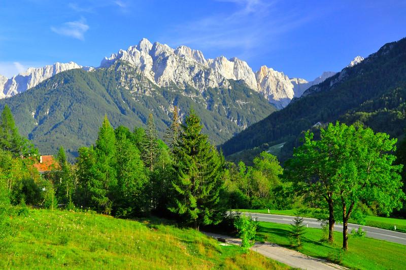 beautiful morning for biking from Podkoren