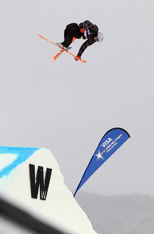 . Nick Goepper of the United States skis to second place in the men\'s FIS Slopestyle Ski World Cup at the U.S. Snowboarding and Freeskiing Grand Prix on December 21, 2013 in Copper Mountain, Colorado.  (Photo by Doug Pensinger/Getty Images)