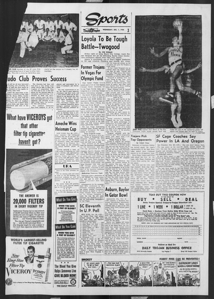 Daily Trojan, Vol. 46, No. 52, December 01, 1954