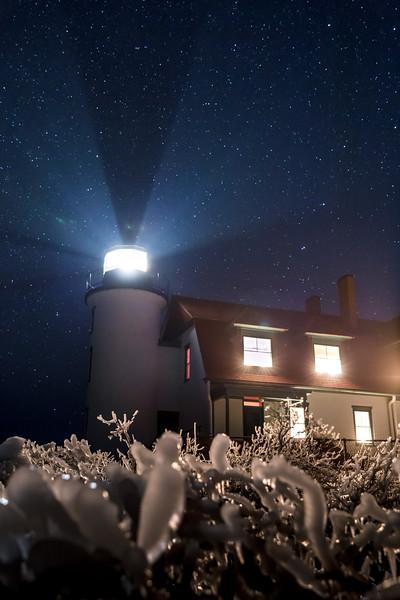 Point Betsie under the stars.