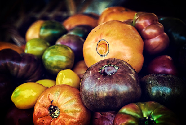Heirloom Tomatoes at the Farmers Market - $2