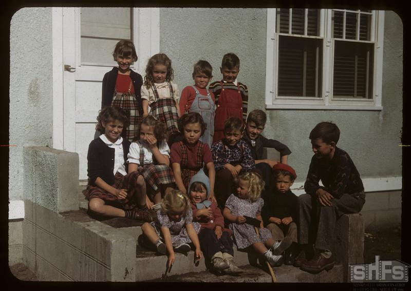 Children of the Sturgis co-op farm.  Sturgis.  09/17/1949