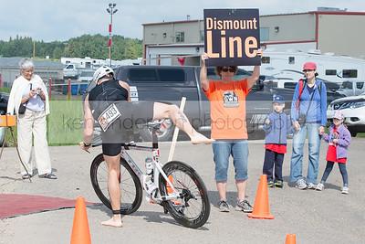 Great White North Triathlon Bike to Run Transition Jul 7 2013