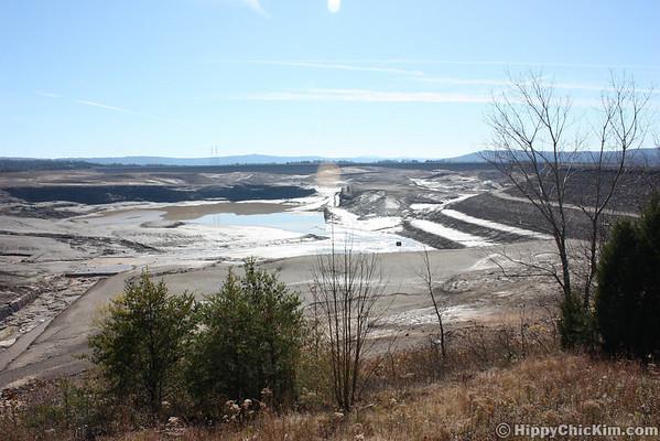 Raccoon Mountain Reservoir Empty