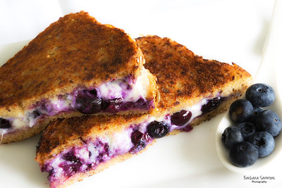 Roasted Blueberry and Gorgonzola Grilled Cheese Sandwich