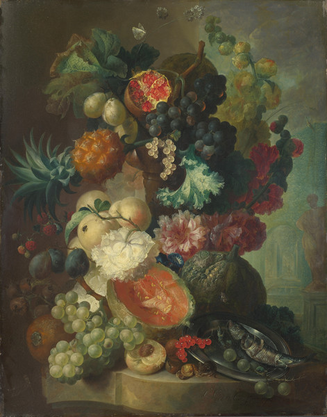 Fruit, Flowers and a Fish