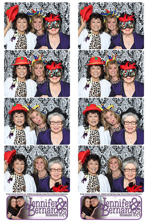 Jennifer-n-Bernardo - November 10, 2012 - Photo Booth Strips