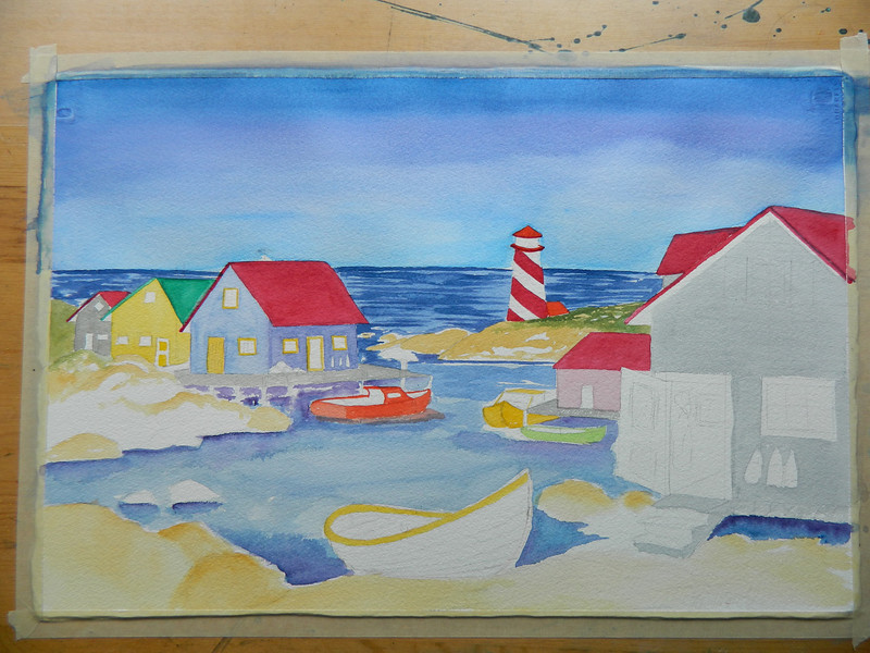 Nova Scotia Harbor, watercolor, 15x22. july 26, 2012. DSCN1349.JPG