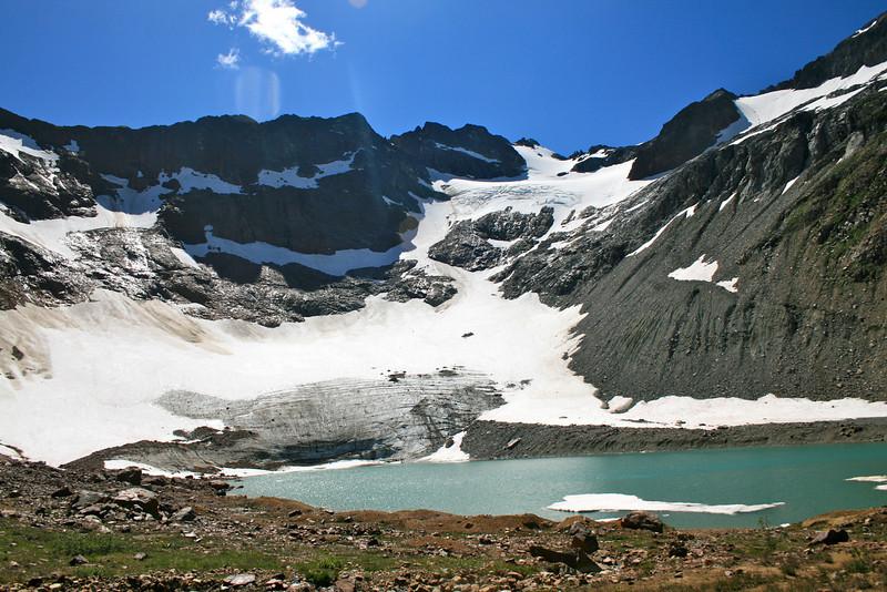 Chiwawa summit and Lyman glacier.