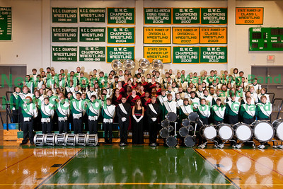 NMHS Band and Color Guard Group Photos, September 30, 2011