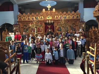 11.02.16 Father Agathangelus speaks to St. Markella Greek School Students