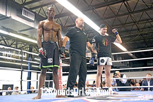 Bout 4 = Ama MMA Dylon McBride, Blue Wristwraps -vs- Andre Williams, Red Wristwraps, 170 Lbs