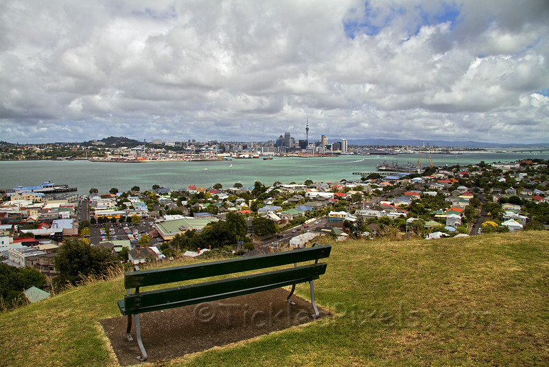 Overlooking Waitemata Harbour and Auckland