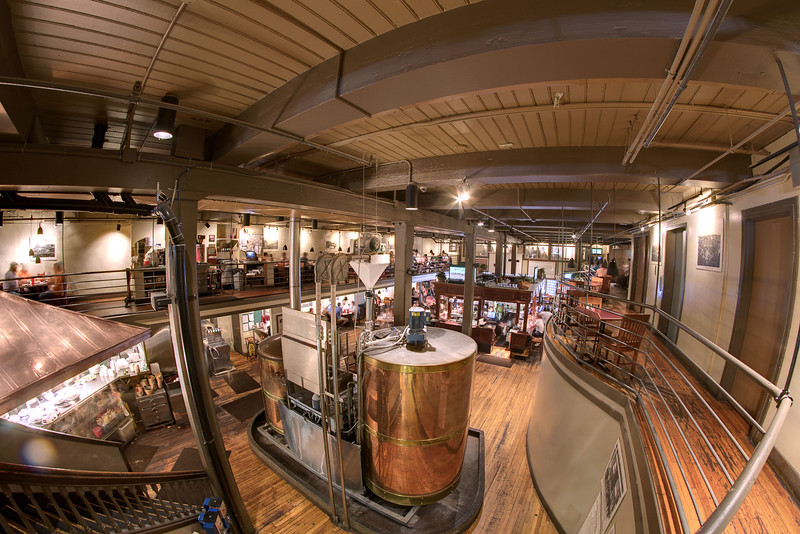 The view from the second level of the spacious Downtown Grill & Brewery in Knoxville, TN on Saturday, June 7, 2014. Copyright 2014 Jason Barnette