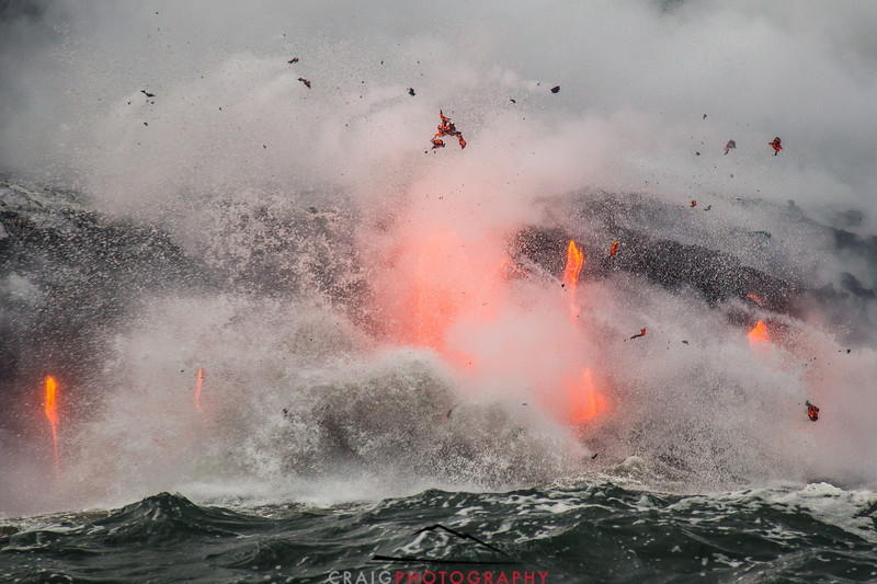 Kilauea Volcano lava flow 61G #2