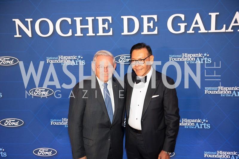 Bob Menendez, Felix Sanchez. Photo by Yasmin Holman. Noche de Gala. Mayflower Hotel. 09.18.19