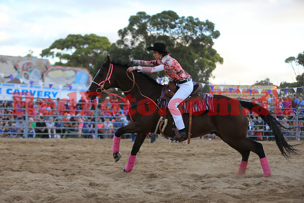 2014 03 08 Wagin Woolorama Rodeo Barrels