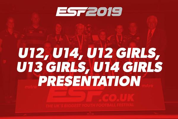 U12, U14, U12 GIRLS, U13 GIRLS, U14 GIRLS PRESENTATION
