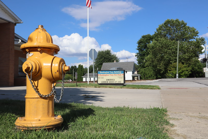 Fire hydrant in front of the Washington Township Building in Tontogany