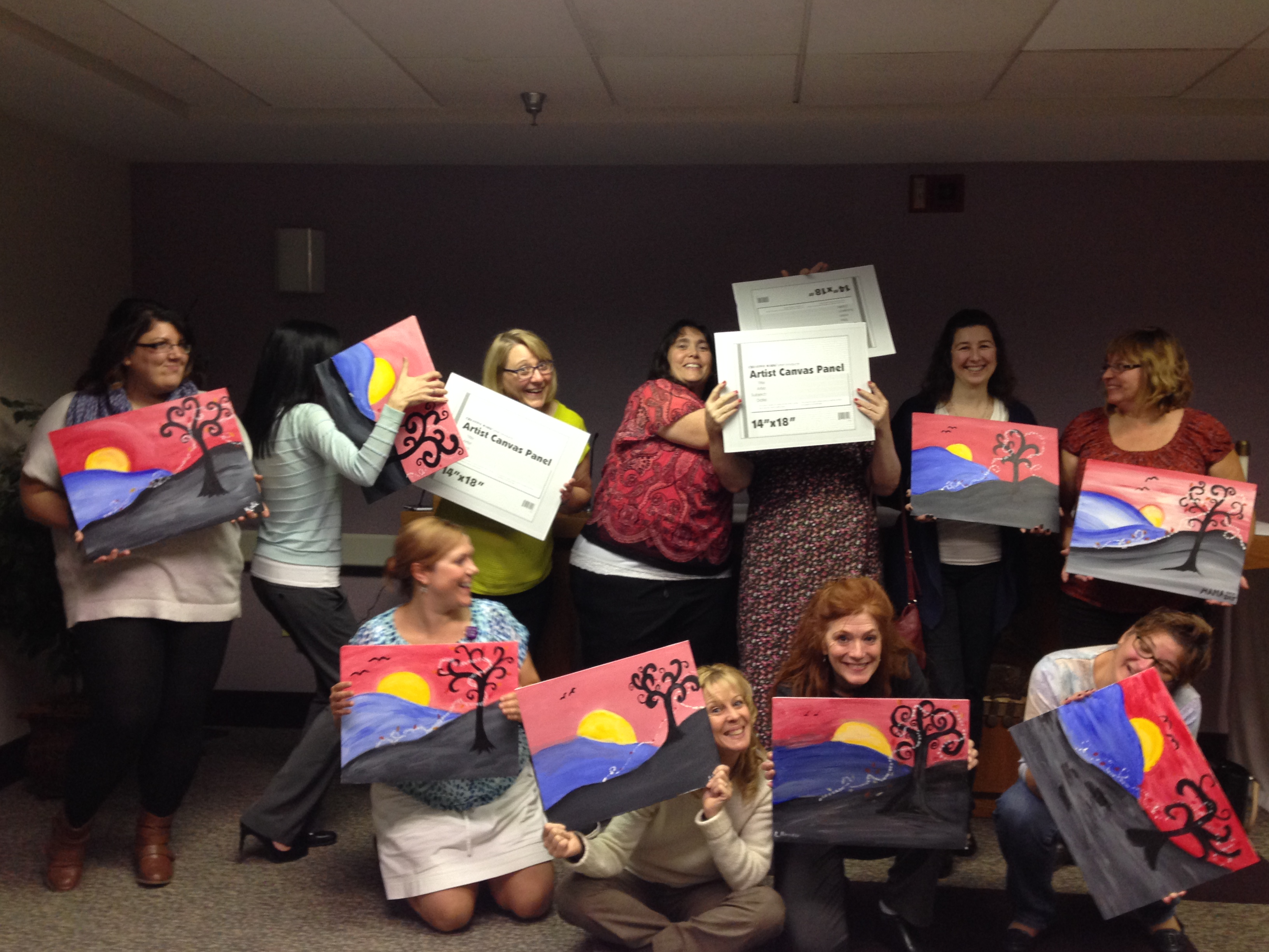 LHS Health Systems Painting Party 10-12-2015