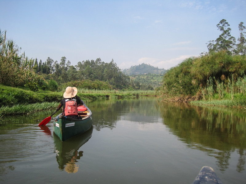 Canoeing on the Mukangwa River with Sandrine, our guide from Kingfisher Journeys