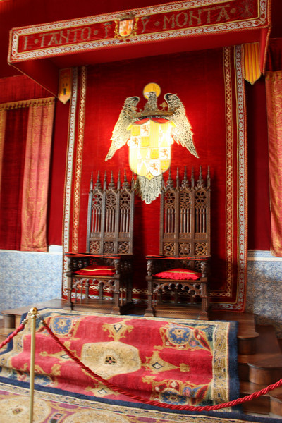 The throne room in the castle.