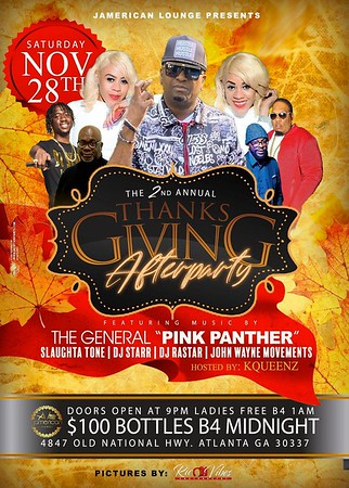THE 2nd ANNUAL THANKSGIVING AFTER PARTY AT JAMERICAN LOUNGE