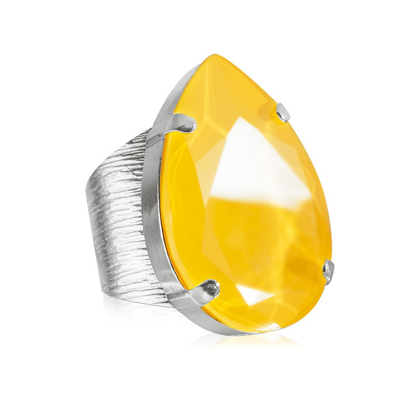 Perfect Drop Ring / Buttercup Rhodium