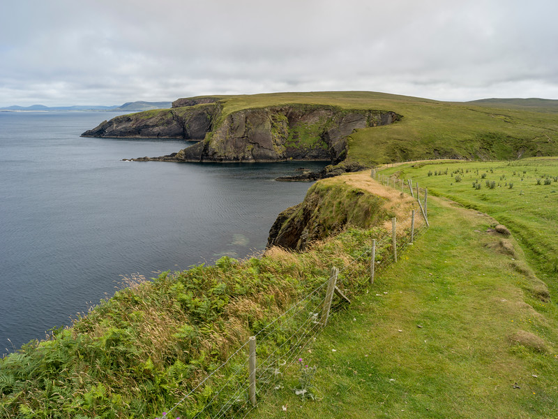 Scenic view of Erris Peninsula, Erris Head Loop Walk, Glenamoy, Belmullet, County Mayo, Ireland