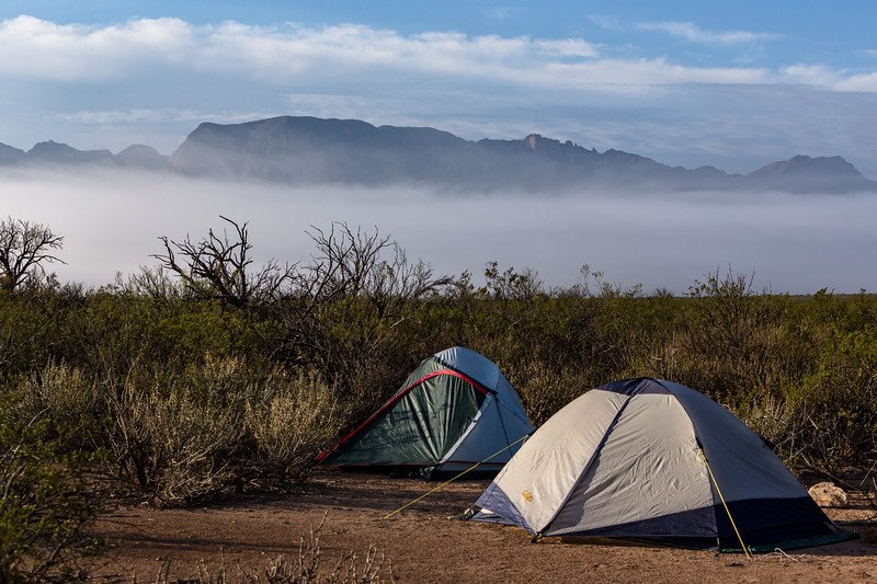 The Chisos Rising Through the Clouds Above Paint Gap #3 Campsite