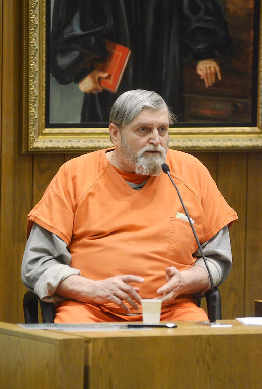 . David Casey is examined by Berkshire District Attorney David Capeless as Casey testifies in the Adam Hall trial in Springfield on Wednesday, January, 22, 2014. Gillian Jones/Berkshire Eagle Staff