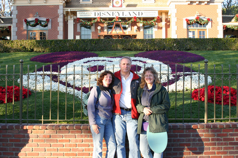 Entrance to Disneyland, first day.
