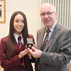 R1304125 Emily and Principal of St Pauls win Ulster Final