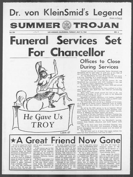 Summer Trojan, Vol. 14, No. 6, July 14, 1964