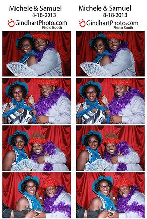 Michele and Sam's Wedding Photo Booth at Avon Gardens