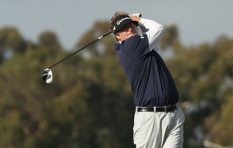 . Steve Marino hits his tee shot on the second hole during the final round of the Farmers Insurance Open on the South Course at Torrey Pines Golf Course on January 27, 2013 in La Jolla, California.  (Photo by Stephen Dunn/Getty Images)