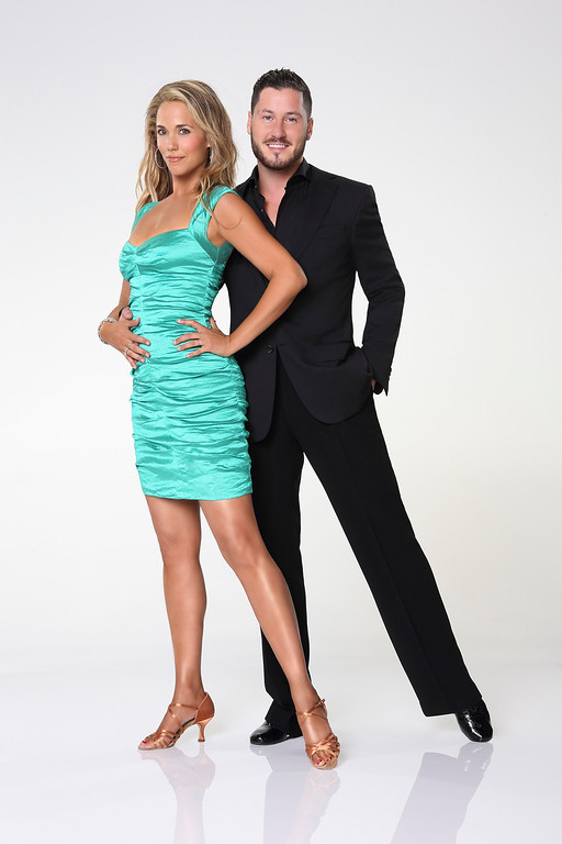 """. DANCING WITH THE STARS - ELIZABETH BERKLEY LAUREN & VAL CHMERKOVSKIY - Elizabeth Berkley Lauren partners with Valentin Chmerkovskiy. \""""Dancing with the Stars\"""" returns for Season 17 on MONDAY, SEPTEMBER 16 (8:00-10:01 p.m., ET), on the ABC Television Network. (ABC/Craig Sjodin)"""
