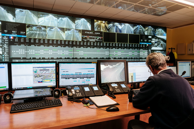 Andrea Arnaldi, traffic safety operator in the French side control room -  Samuel Zeller for the New York Times