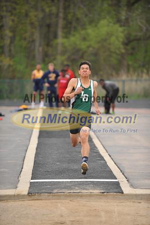 Boys' Long Jump - 2014 MHSAA Region 9-1 (Bloomfield Hills)