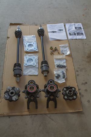 2013 Wildcat X 1000 Rear axle/hub upgrade
