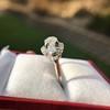 1.18ctw Art Deco Princess Halo Ring 22