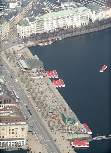 Luftbild Hamburg Binnenalster Jungfernstieg