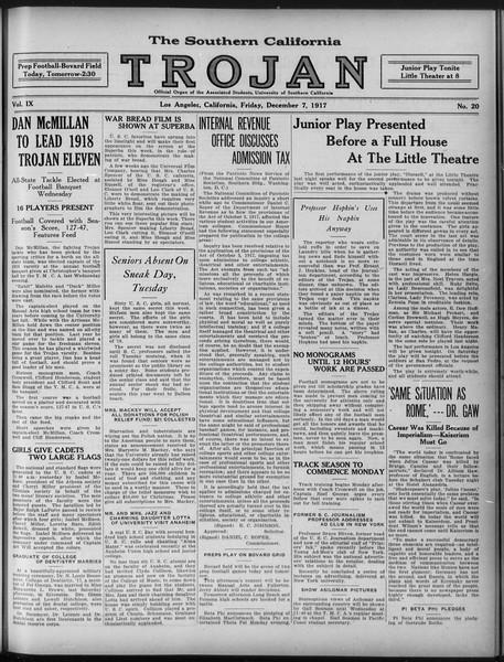 The Southern California Trojan, Vol. 9, No. 20, December 07, 1917