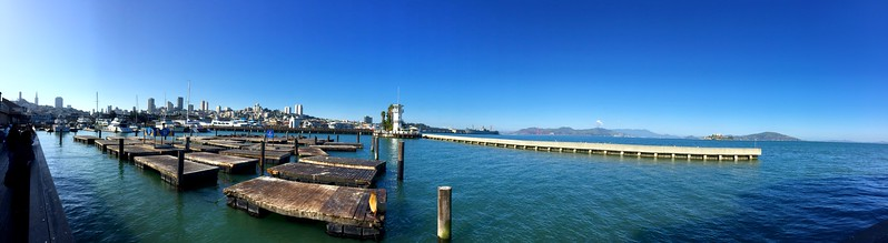 View from Pier 39 in San Francisco #panorama