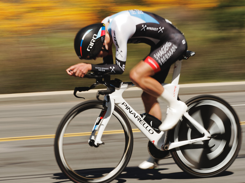 Hagens Berman Axeon's Sean Quinn takes 1st in the 2019 Redlands Bicycle Classic Stage 1 Time Trial.