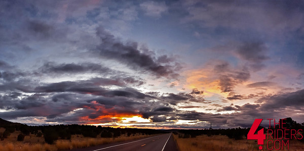 sunset over route 66