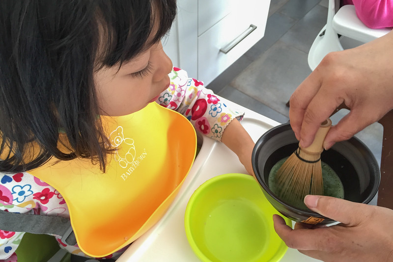 Whisking the Matcha Green Tea | A Kid-Friendly Tea Party